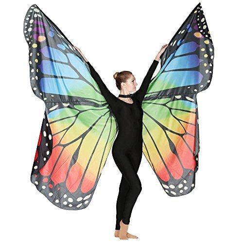 g Engels Isis Flügel Tanz Kostüme Zubehör für Frauen Multicolor (Kostüme Für Frauen Engel)