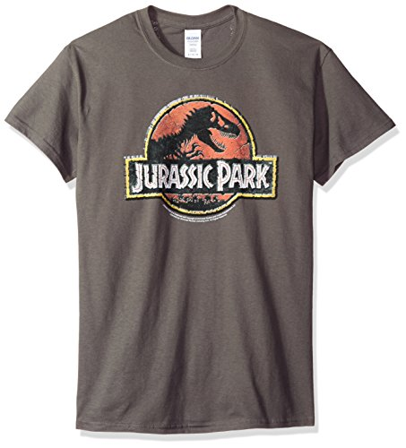 Jurassic Park pietra Logo adulti Movie T-Shirt Tee, Charcoal, S