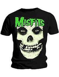 Official T Shirt MISFITS Huge Glow JUREK Skull Fiend Logo L