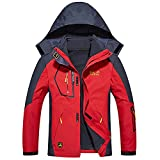 Softshelljacke 3 in 1 Jacke Winter Doppeljacke Wasserdicht Atmungsaktiv Outdoor
