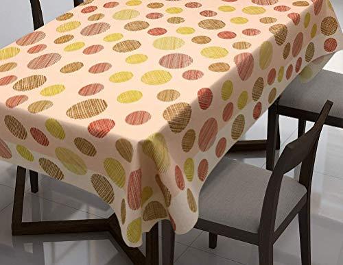 QWEASDZX Tischdecke Nationaler Stil Digitaldruck wasserdichte Antifouling Tischdecke Geeignet für den Innen- und Außenbereich 150x150 cm