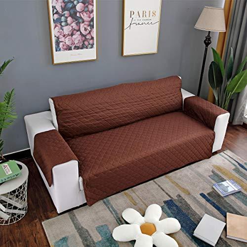 Braun Lagerung Couch (ChaRLes Wasserdichte Sitzdruck Pet Sofa Couch Schutzabdeckungen Abnehmbar Mit Gurt - Braun)