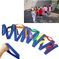 Cuerda para caminar para niños de nailon duradero con asas coloridas para guarderías y profesores