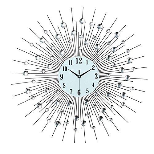 mmynl. C Horloges pas de ticken Silent Mat Horloge murale DIY moderne pour le salon chambre à coucher Cuisines de bureau 60 cm