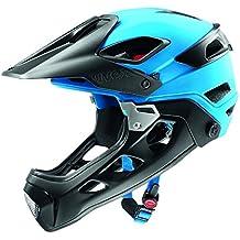 Uvex Jakkyl HDE - Casco de ciclismo unisex, color azul / negro mate, talla 52-57