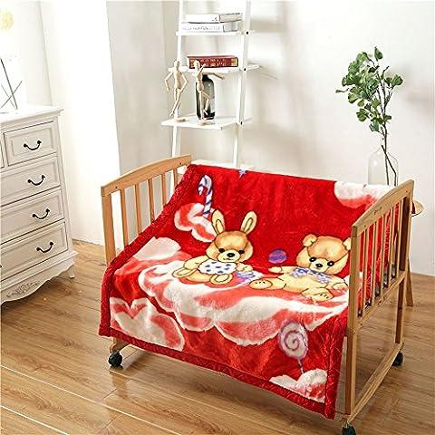 shinemoon neonato ragazzi/ragazze coperta avvolgente animale Pattern doppio spessore per