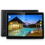 10.1' Excelvan K107 Android 5.1 MTK 6580 Quad-Core 2GB+32GB Tablet PC with Dual SIM Card Dual Camera(2.0MP+5.0MP) OTG WIFI Bluetooth 4700mAh Battery G-sensor Phablet - Black