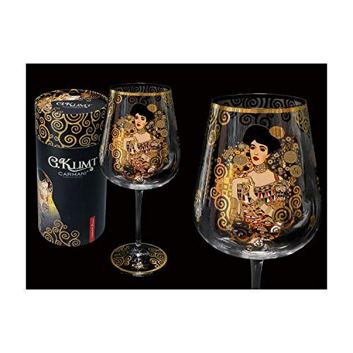 CARMANI - Fancy Weinglas verziert mit Gustav Klimt - Adele Bloch Bauer Malerei 800 ml
