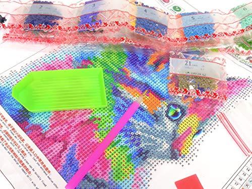 DIY 5d Diamant Peinture kit, Full perceuse Chat mignon à broder au point de croix Arts Craft sur toile Décoration murale