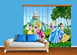 AG Design Gardine/Vorhang FCP XXL 6016 Disney Prinzessin Princess, 280 x 245 cm, 2-Teilig