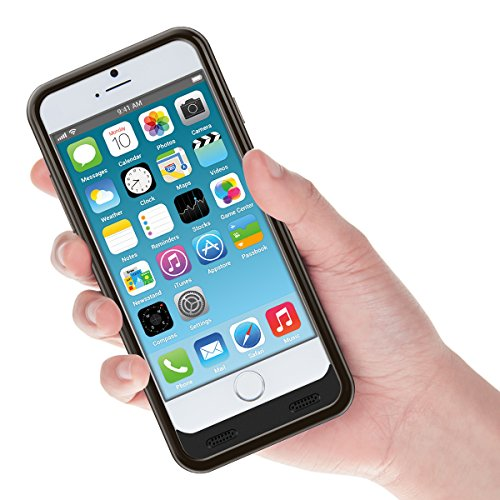 kwmobile Custodia batteria certificata MFI per Apple iPhone 6 / 6S capacità: 3100mAh. Moltiplicate la durata della batteria del Vostro Apple iPhone 6 / 6S ! nero