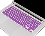 """Heartly Premium Soft Silicone Keyboard Skin Crystal Guard Protector Cover For MacBook Air 11"""" inch - Frame Purple"""