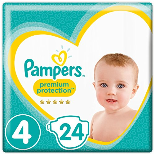 Pampers Premium Protection Windeln, Gr. 4 Maxi (9-14 kg), 4er Pack (4 x 24 Stück)