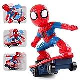 Ayy Genuine Spider-Man Scooter 360-grado di Acrobazia scivolosa Auto 2.4 G per Bambini Auto Giocattolo Telecomando Elettrico