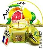 Bougie Tonique parfum naturel Agrumes...