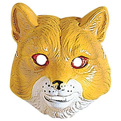 Masque de loup pour enfant animal visage renard zoo carnassier en plastique dur chien fête de carnaval comtes de fées déguisement carnaval