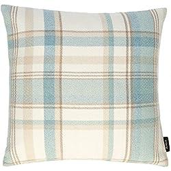 Aspecto tejido de lana de cuadros escoceses azul a cuadros de cuadros funda para cojín 43 cm x 43 cm para de algodón para bañera de McAlister