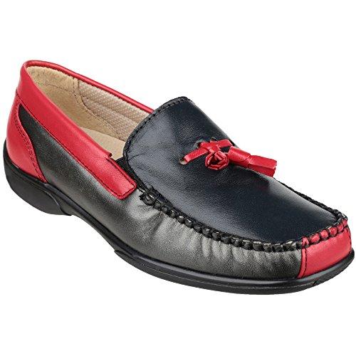 Cotswold Biddlestone Damen Mokassin Leder Schuh bequem, Mehrfarbig-Gr:36 - UK 37 EU / 37 UK - Cotswold Leder