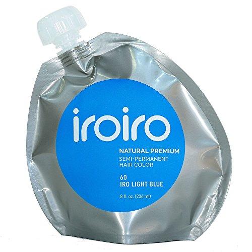 Iroiro Premium Natural Semi-permanenten Haar Farbe 60Iro-hellblau (8oz)