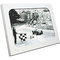 Exclusive Memorabilia Monaco Grand Prix Foto von Stirling Moss unterzeichnet. in Geschenkbox
