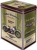 Mydeko-Barattolo di metallo, 2,8 l, rettangolare) Harley Davidson Knucklehead
