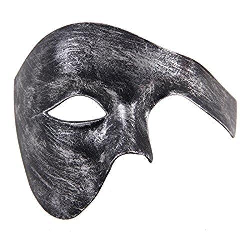 Herren Phantom von Das Oper Maskerade Maske Hälfte Gesicht Jahrgang Römisch Venezianischen Maske (Antikes Silber ()
