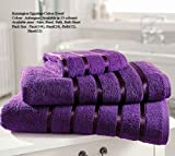 Egyptian Cotton Hand Towel 600gsm Luxury Thick Bathroom Towel Super Soft Combed Highly Absorbent High Quality Towel Size 50 x 80 Cm , Aubergine