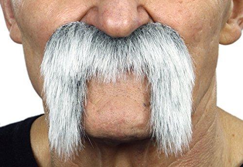 Mustaches Grauer Winnfieldr fälschen, selbstklebend Schnurrbart mit weiß