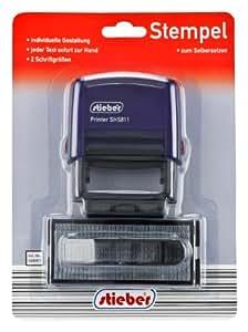 selbstsetz stempel 18x47 mm f r bis zu 4 textzeilen in 2 schriftgr en selber setzen. Black Bedroom Furniture Sets. Home Design Ideas