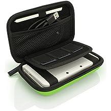 iGadgitz U3608 - EVA Funda Rígida de Viaje Compatible con Nintendo 3DS (NO para 3DS XL) - Verde