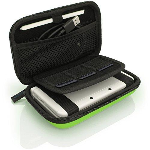 iGadgitz U3608 - Eva Hart Schutzhülle Kompatibel mit Nintendo 3DS (Nicht FÜR 3DS XL) - Grün - Travel Nintendo Kit Ds