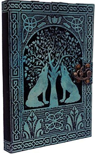 Handgefertigt Vintage Leder Tagebuch Buch der Schatten Notebook Tagebuch Organizer College Book Planer Poetry Book Planer Einband Handbuch 17,8x 25,4cm