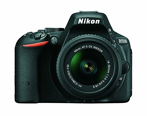Nikon D5500 DX-Format Digital SLR Camera + AF-P 18-55mm VR Lens Kit + Memory Card + Camera Bag