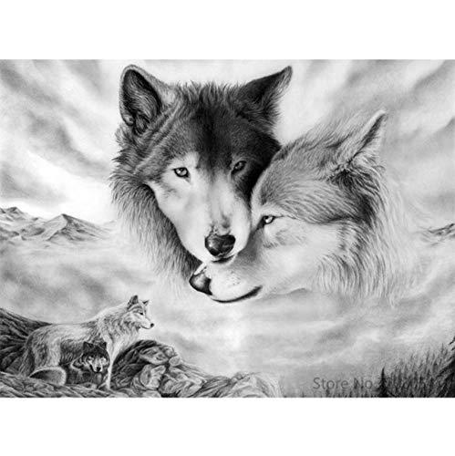WACYDSD Puzzle Adulte 1000 Pièces Puzzle 3D Animaux De Bricolage Wolf Moderne Picture Home Decor pour Le Salon