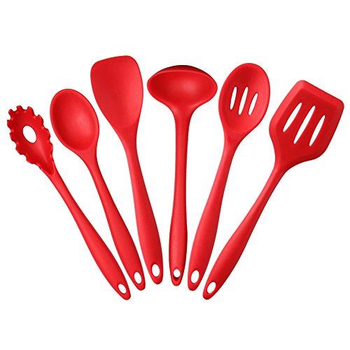 MFTEK Silicone Utensili da Cucina, 6 Pezzi: Noodle cucchiaio, Cucchiaio