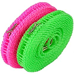 Szaerfa Portatif antidérapant de voyage en plein air blanchisserie linge à laver vêtements corde ligne (Vert)