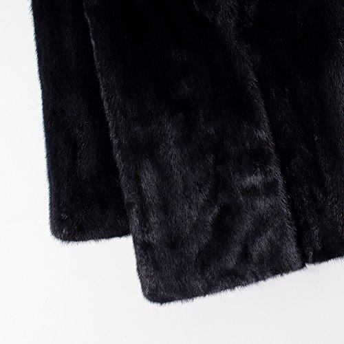 Abrigo y iBaste Invierno el para Sintético Largo Otoño Mujer el Pelo Zwqwfxd8A
