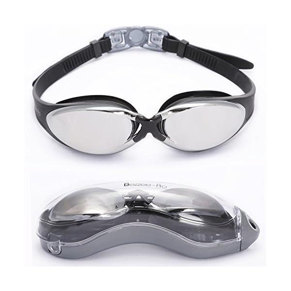 Lunettes de natation Expert par Bezzee Pro - Verre miroirs ... 9e0bf115c60b