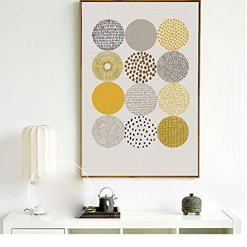 zlhcich Einfache kreative abstrakte Blattdekoration Ölgemälde 01 Malerkern 60x80cm - Minnie Maus-markt