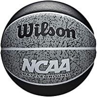 Wilson WTB2501XB07 Pelota de Baloncesto NCAA Battleground Caucho Interior y Exterior, Unisex-Adult, Negro/Gris, Official
