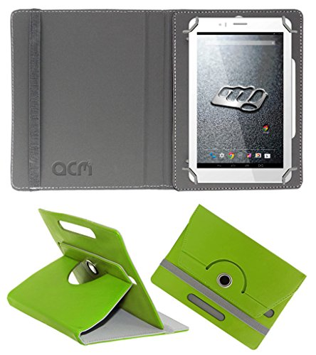 Acm Rotating 360° Leather Flip Case for Micromax Canvas Tab P470 Cover Stand Green  available at amazon for Rs.149