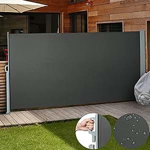 jago seitenmarkise zum schutz 180 x 300 cm anthrazit. Black Bedroom Furniture Sets. Home Design Ideas