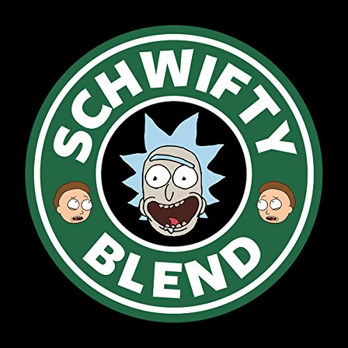 Rick And Morty Schwifty Blend Starbucks Logo Women's Vest Black