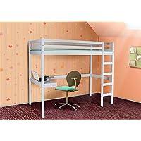 Eternity-Möbel Hochbett Spielbett - Pino - Kinderbett Jugendbett Etagenbett Bett Schreibtisch preisvergleich bei kinderzimmerdekopreise.eu