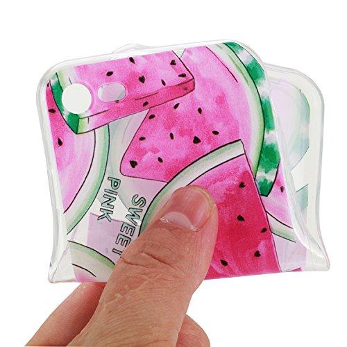 Apple iPhone 7 Hülle,iPhone 7 Silikon TPU Gel Case,Ekakashop Ultra dünn Slim Kreativ Design Durchsichtig Transparent Crystal Klar Flexible Gel Case Schutzhülle Defender Bumper Tasche Hüllen für Apple  Wassermelone