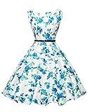 1950s vintage retro rockabilly kleid ballkleider knielang festliches kleid sommerkleid Größe S CL6086-23
