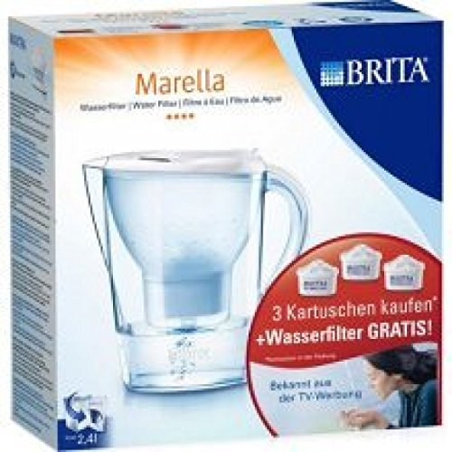 Preisvergleich Produktbild Brita Wasserfilter Marella XL 3, 5L + 3 Maxtra Kartuschen weiß