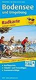Bodensee und Umgebung: Radkarte mit Ausflugszielen, Einkehr- & Freizeittipps, wetterfest, reissfest, abwischbar, GPS-genau. 1:100000 (Radkarte / RK) -