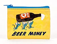 Coin Purse - Blue Q - Beer Money 4x3