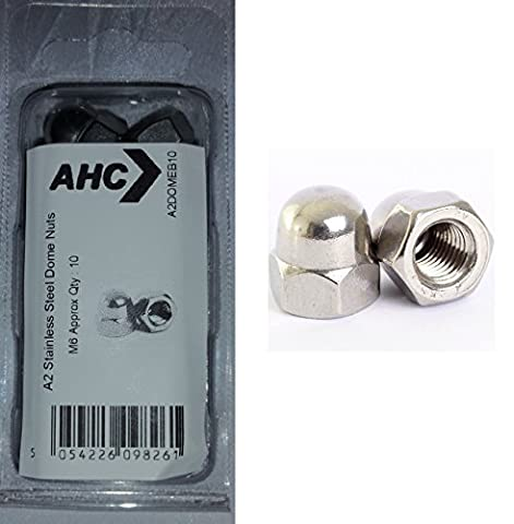 AHC A2DOME3B10 M3 A2 Stainless Steel Type T Dome Nuts (Blister Pack of 10)